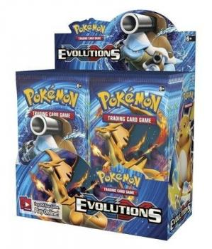 Pokémon XY Evolutions Booster Display