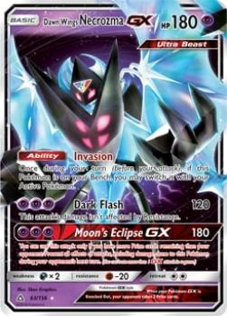 Dawn Wings Necrozma GX 63/156 - Pokémon XXL TCG