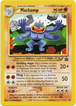 Machamp Black Star Promo 43 - Pokémon TCG