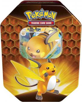 Pokémon Hidden Fates Raichu-GX Tin Box