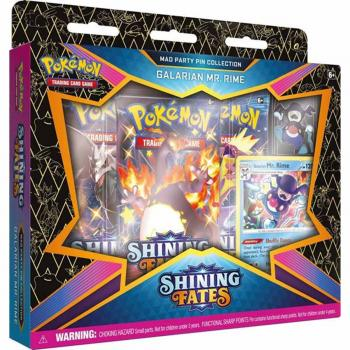 Pokémon Shining Fates Mad Party Pin Collection Galarian Mr. Rime