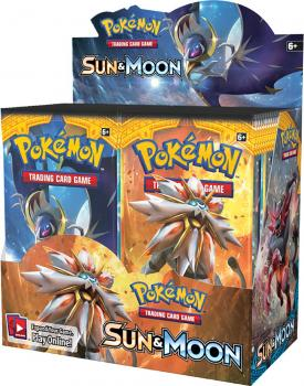 Pokémon Sun & Moon Booster Display
