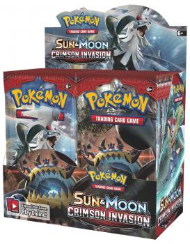 Pokémon Sun & Moon Crimson Invasion Booster Display