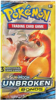 Pokémon Sun & Moon Unbroken Bonds 3-Pack Booster