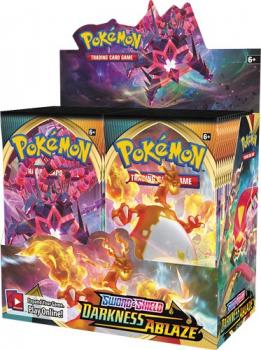 Pokémon Sword & Shield Darkness Ablaze Booster Display