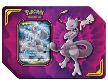 Pokémon TAG TEAM Mewtu & Mew GX Tin Box