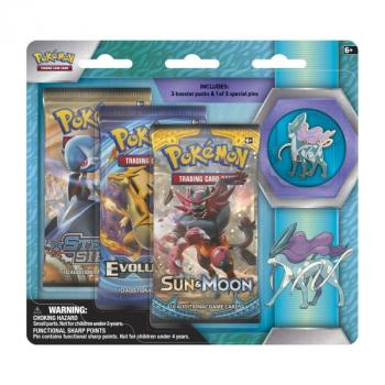 Pokémon Suicune Pin Collection Blister