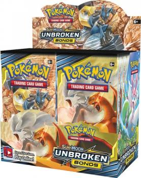 Pokémon Sun & Moon Unbroken Bonds Booster Display