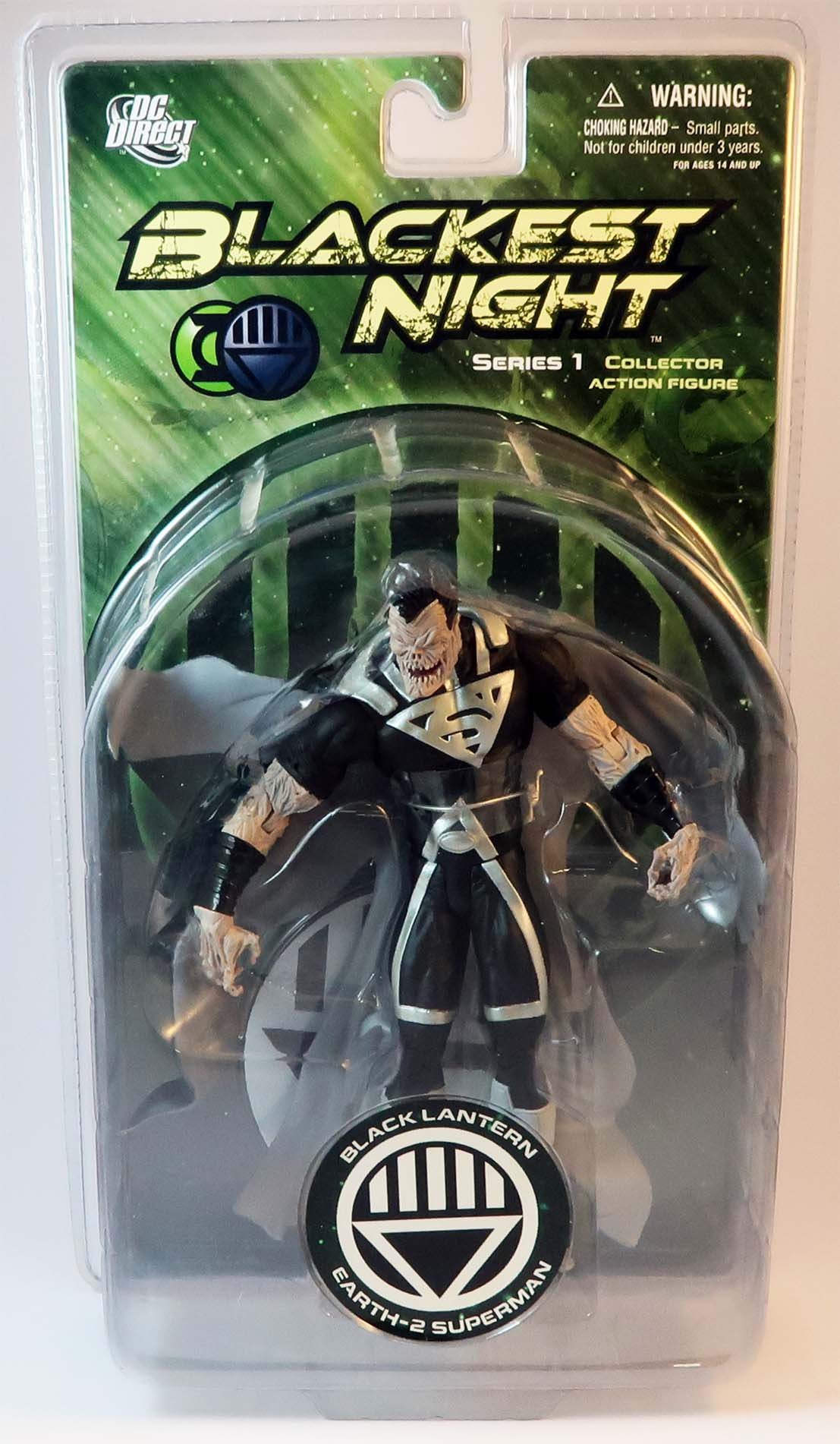 Earth 2 Superman Black Lantern Actionfigur DC