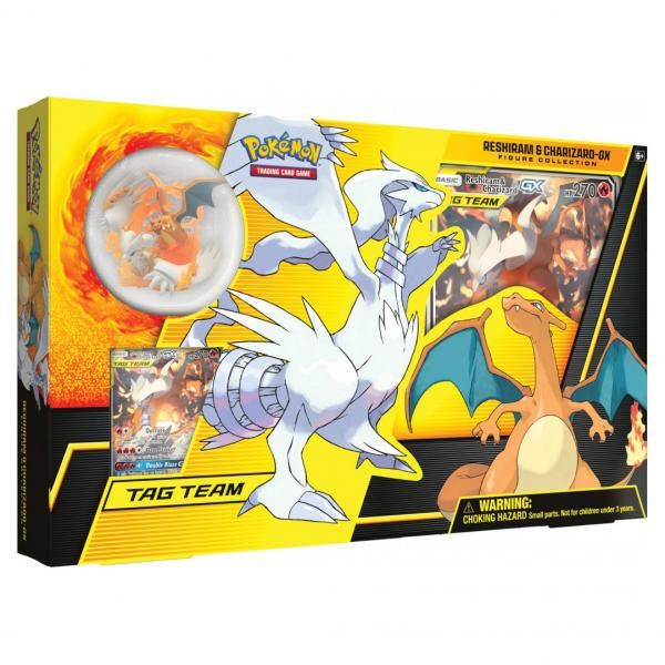 Pokémon Reshiram & Glurak-GX TAG TEAM Figure Collection Box