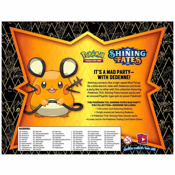 Pokémon Shining Fates Mad Party Pin Collection Dedenne