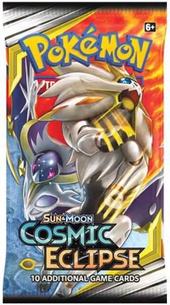 Pokémon Sun & Moon Cosmic Eclipse Booster Display