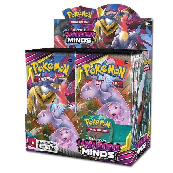 Pokémon Sun & Moon Unified Minds Booster Display