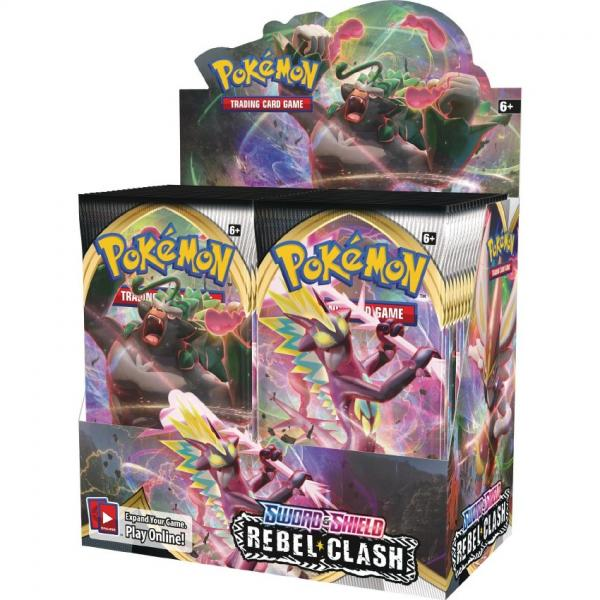 Pokémon Sword & Shield Rebel Clash Booster Display