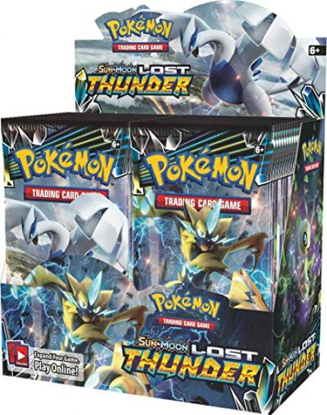 Pokémon Sun & Moon Lost Thunder Booster Display