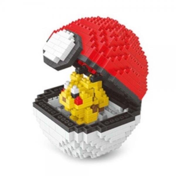Pokémon Pikachu im Pokeball Nanoblocks