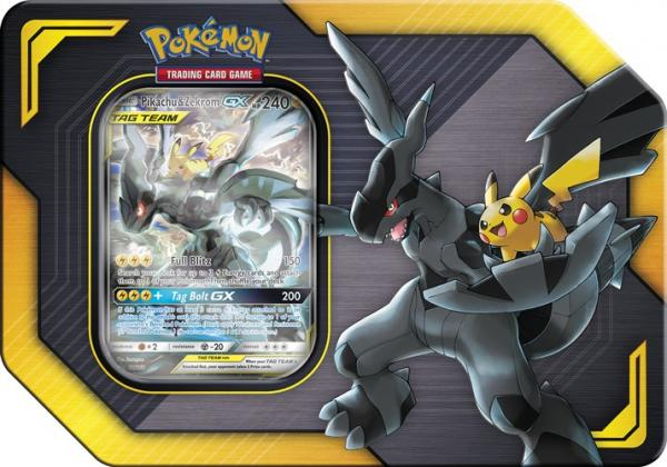 Pokémon TAG TEAM Pikachu & Zekrom GX Tin Box
